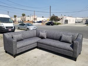 NEW 7X9FT HENNESSEY ZEBRA FABRIC COMBO SECTIONAL COUCHES for Sale in City of Industry, CA