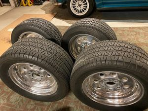 Nice weld rims and tires clean no curb rash $600 for Sale in Irwindale, CA