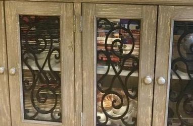 Mirimyn Antique Gray Grills Accent Cabinet🗨️🚚💐 for Sale in Greenbelt,  MD