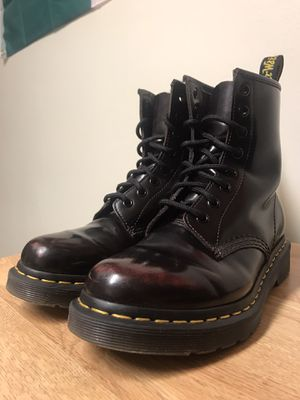 Dr. Marten's Cherry Red Arcadia Combat Boots for Sale in Medford, MA