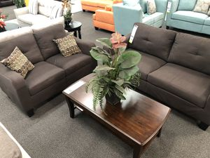 New Couch Sofa Set. Chocolate. Free Delivery! for Sale in Los Angeles, CA