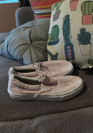Women's pink vans size 7.5 slip on's recently washed for Sale in Houston, TX