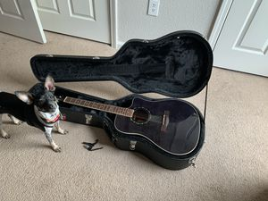 Fender T-Bucket 300CE acoustic-electric and hard shell case for Sale in Apex, NC