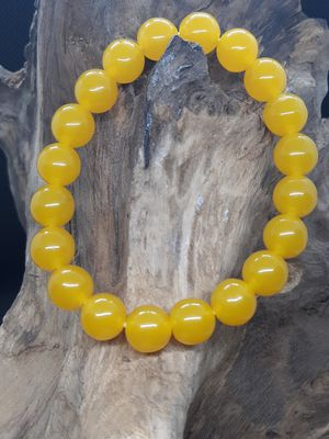 Yellow Agate 10mm Bead Bracelet for Sale in Queens, NY