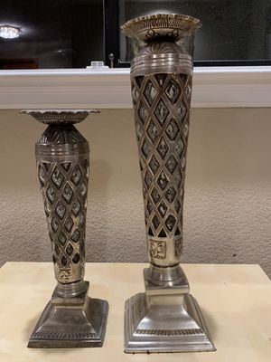 Hand Blown glass candle stands for Sale in Walnut Creek, CA