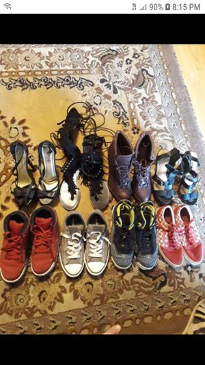 8 pairs ladies and boys shoes for Sale in Fairburn, GA