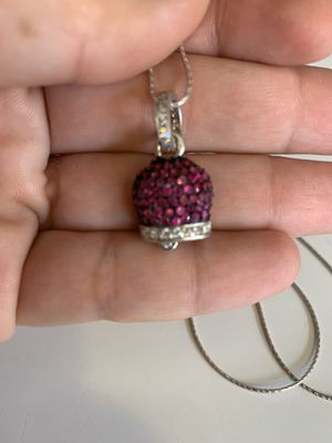 Sterling Silver & Crystal Bell & Necklace for Sale in Glendale, AZ