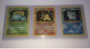 Pokemon Cards - Base Set 2 - Starter Set - Charizard / Blastoise / Venusaur for Sale in Winter Garden, FL