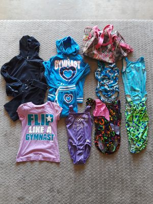 WOGA Gymnast lot of Leotards bag and winter clothes. for Sale in Richardson, TX