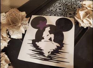 Handmade Car Decal Mermaid/ Mickey ears for Sale in Keizer, OR