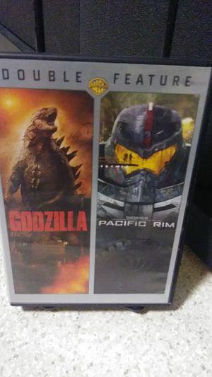 Godzilla & pacific rim dvd for Sale in Yakima, WA