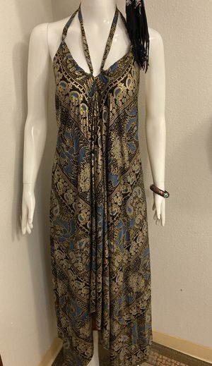 S/M dark blue & gold halter dress for Sale in Gig Harbor, WA