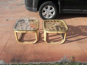 Vintage Rattan Modern Side Tables for Sale in Miami Gardens, FL