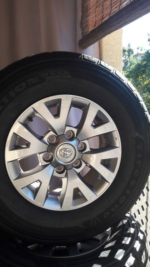 Tires and Wheels Firestone tires with lug nuts size p 245/ 75 R16 for Sale in Chula Vista, CA