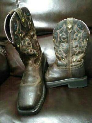 8.5 B Womens Justin Work Boots Composite Toe for Sale in Oklahoma City, OK