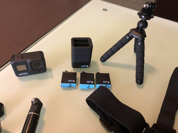 GoPro hero 8 camera set with equipment
