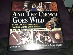 AND THE CROWD GOES WILD BOOK & CD SET for Sale in Lake Villa, IL