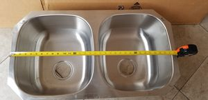 DOUBLE KITCHEN SINK, STAINLESS STEEL, IN GREAT CONDITION, FIRM PRICE for Sale in Westminster, CA