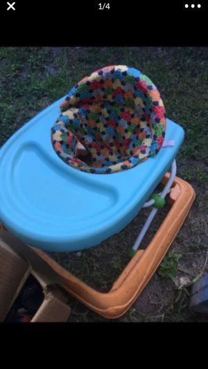All for 20 (baby walker, bouncer, bather, and stroller) for Sale in Houston, TX