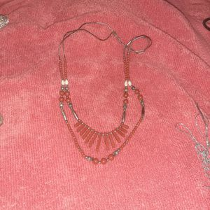 Coral Fan Necklace 25 An 28 Inches for Sale in Phoenix, AZ