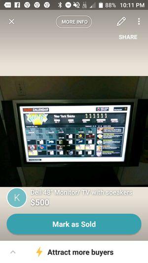 Dell 47 inch TV /Computer monitor! for Sale in Montgomery, AL