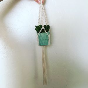 Mini Macrame Plant Hanger with Potted Faux Succulent for Sale in Mesa, AZ
