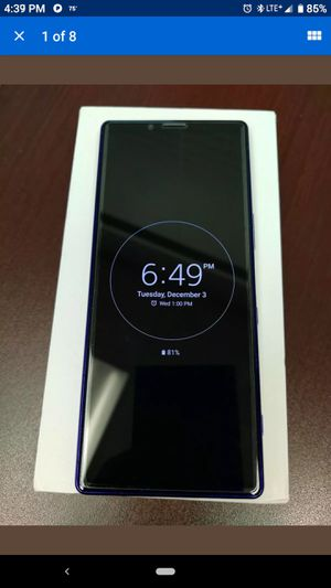 """Sony Xperia 1 J8170 128GB 6.5"""" Android Smartphone GSM Unlocked Purple. for Sale in Cypress Gardens, FL"""