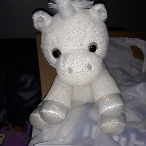 White Unicorn Stuff Toy for Sale in San Antonio, TX