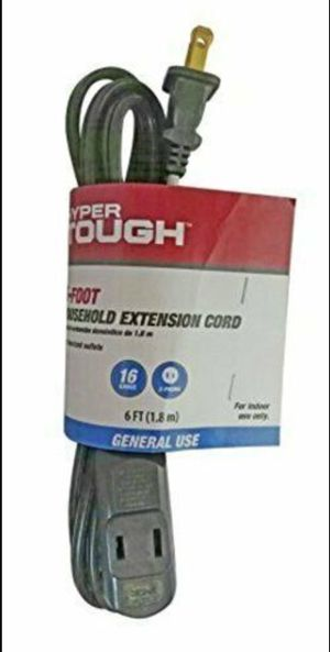 *NEW* HYPER TOUGH- 6 foot General use extension cord for Sale in Wall Township, NJ