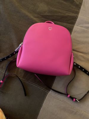 MCM Calfskin Mini Duchess Polke Studs Backpack Electric Pink for Sale in Alpharetta, GA