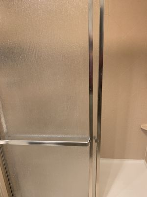 Silver sliding shower doors USED for Sale in Roselle, IL