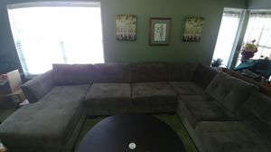 Grey Micro Suede Sectional Couch for Sale in Redding, CA