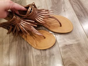 Copper fringe sandals for Sale in Waianae, HI