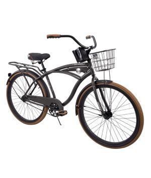 "Huffy 26"" Nel Lusso Men's Single-Speed Comfort Cruiser Bike, Charcoal for Sale in Dearborn Heights, MI"