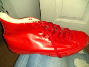 Rubber made rare red converse for Sale in Denver, CO