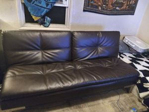 Leather futon for Sale in San Diego, CA