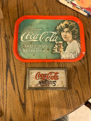 Antique Coca Cola sign and mirror sign for Sale in Lebanon, OR