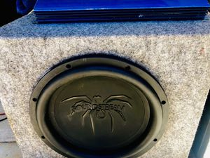 $160 no less / no menos / Big 900 Watt 12 inch sound stream Sub / Monoblock Amp / Vented Box for Sale in Sanger, CA