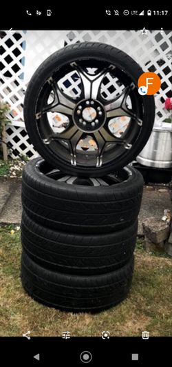 "20"" Universal Rims/BrandNew Tires for Sale in Federal Way,  WA"