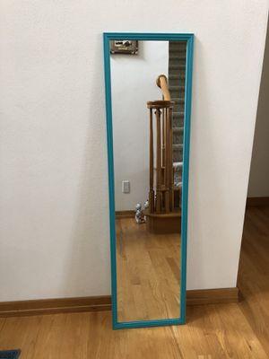 Teal framed full length mirror for Sale in Appleton, WI