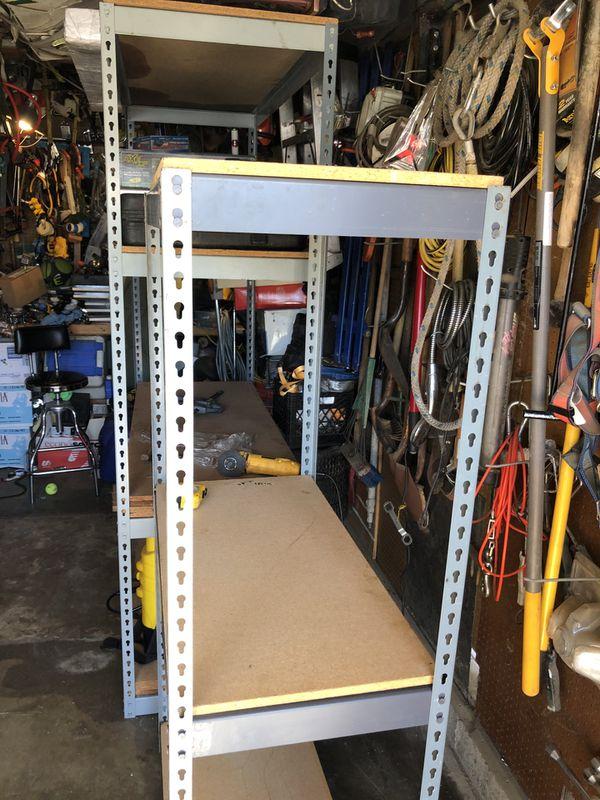Heavy duty metal storage shelves $70