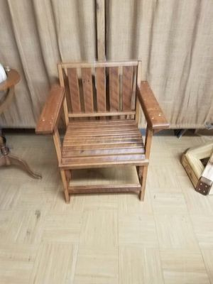 Rustic oak desk chair for Sale in Floyd, VA