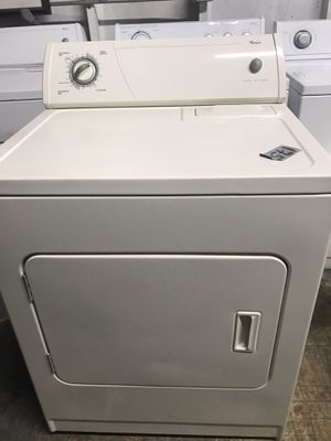 Whirlpool almond color electric dryer heavy duty capacity in excellent condition plus 6 months warranty. Delivery service available for Sale in Fort Lauderdale, FL