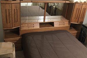Queen sized Oak Headboard/shelves $100.00 for Sale in Port Orchard, WA