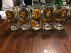 Vintage Mizzou glass tumblers - '71 and '66 - lot of 5 for Sale in Maryland Heights, MO