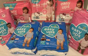 Pampers Easy Ups BOY & GIRL Only these sizes 2t-3t, 3t-4t, 4t-5t PRICE $6 for Sale in Miramar, FL