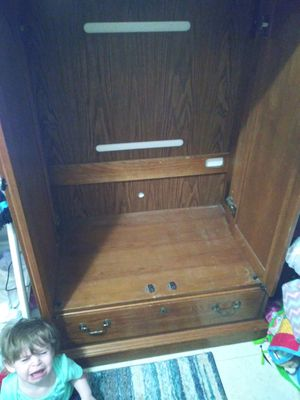 Brown wooden 2 door enclosed tv stand for Sale in Rolla, MO