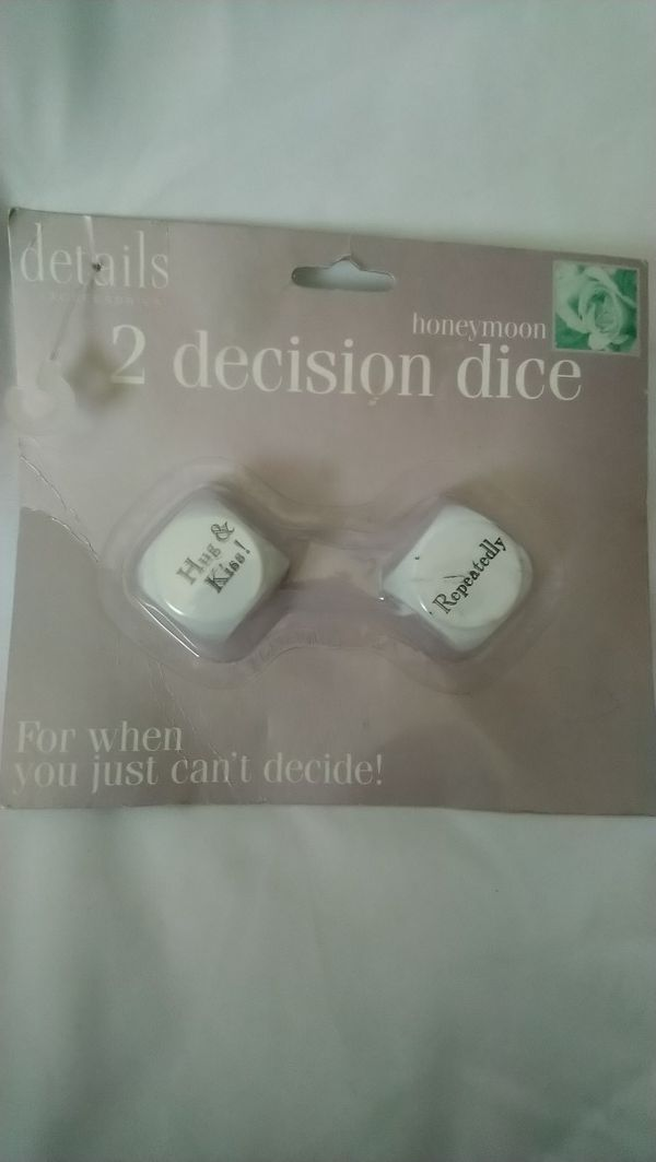 Honeymoon 2 decision dice for when you just can't decide!