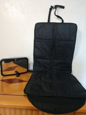 Baby car mirror and Seat protector for Sale in Revere, MA