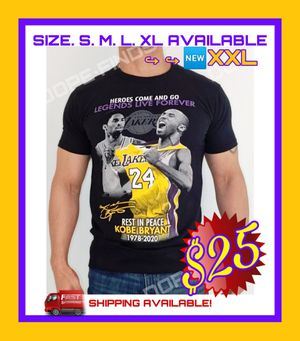 🏀NEW KOBE BRYANT MEMORIAL T-SHIRT. SHIPPING AVAILABLE. LEGENDS LIVE FOREVER!🏀 for Sale in Ontario, CA